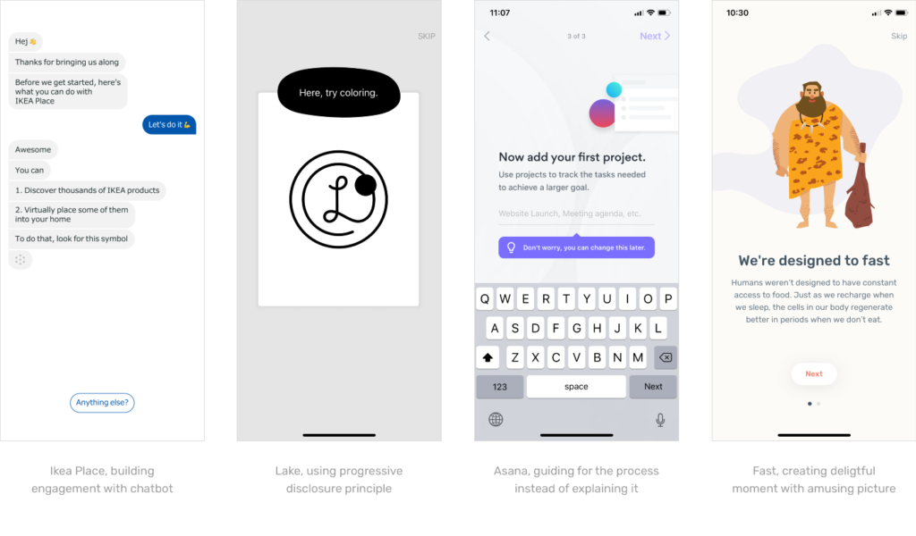 Examples of great First Time User Experience
