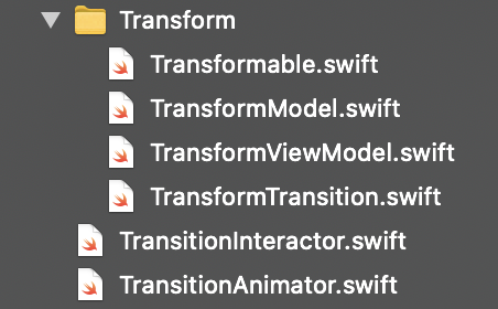 Transition in Swift