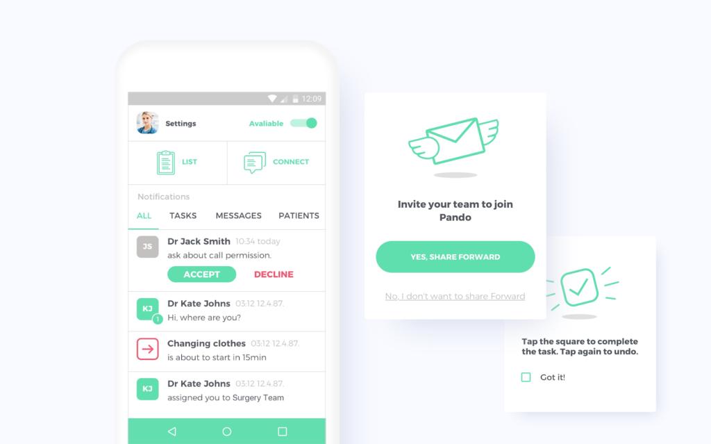 Pando healthcare app