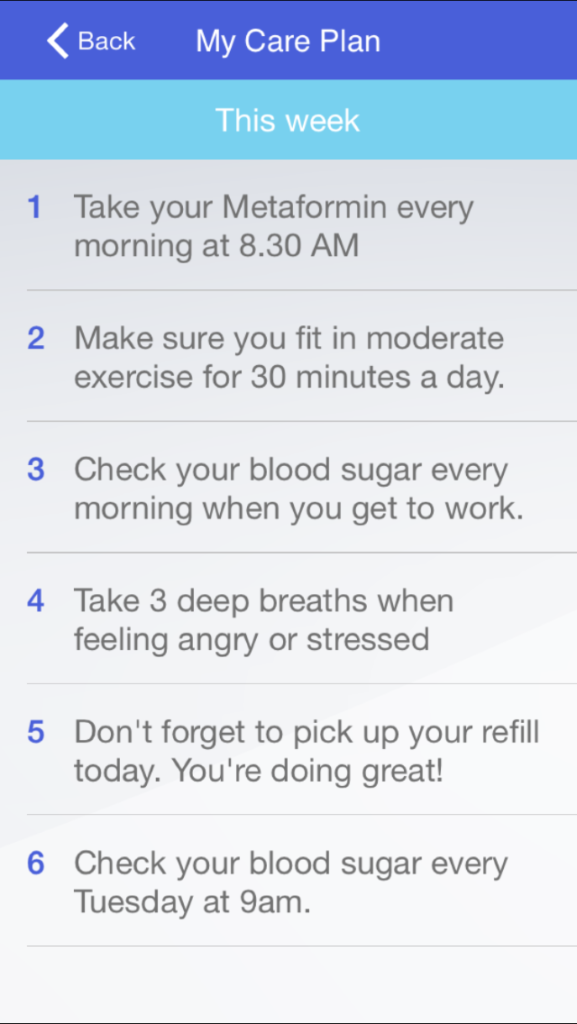 Vheda Health - my care plan