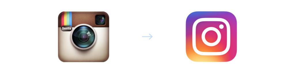 Instagram logo: old vs new