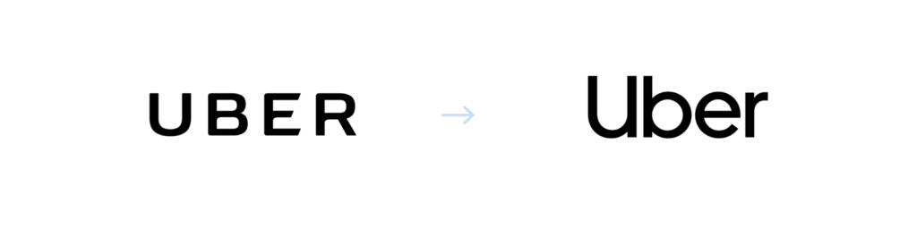 Uber logo: old vs new
