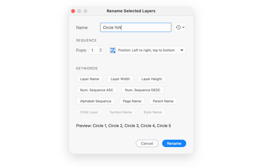 Rename it - selected layers